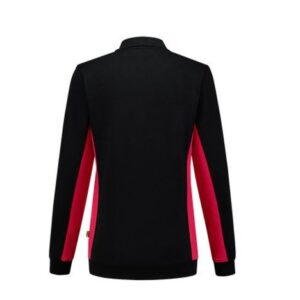 Tricorp Dames Polosweater Bicolor 2002 zwart-rood 2