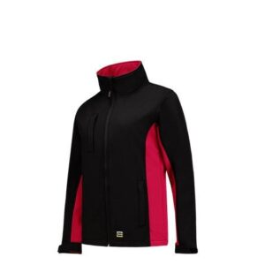 Tricorp softshell Bicolor Dames 2008 zwart-rood